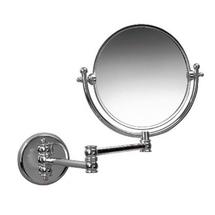 "Miller  Chrome Double Arm 8"" Mirror"